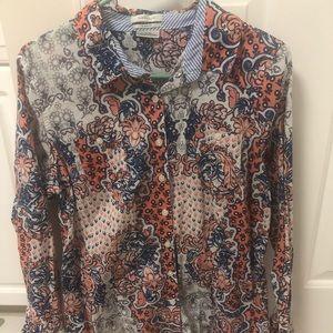 Van Heusen button down blouse size XL